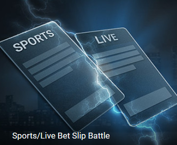 Sports live betslip battle